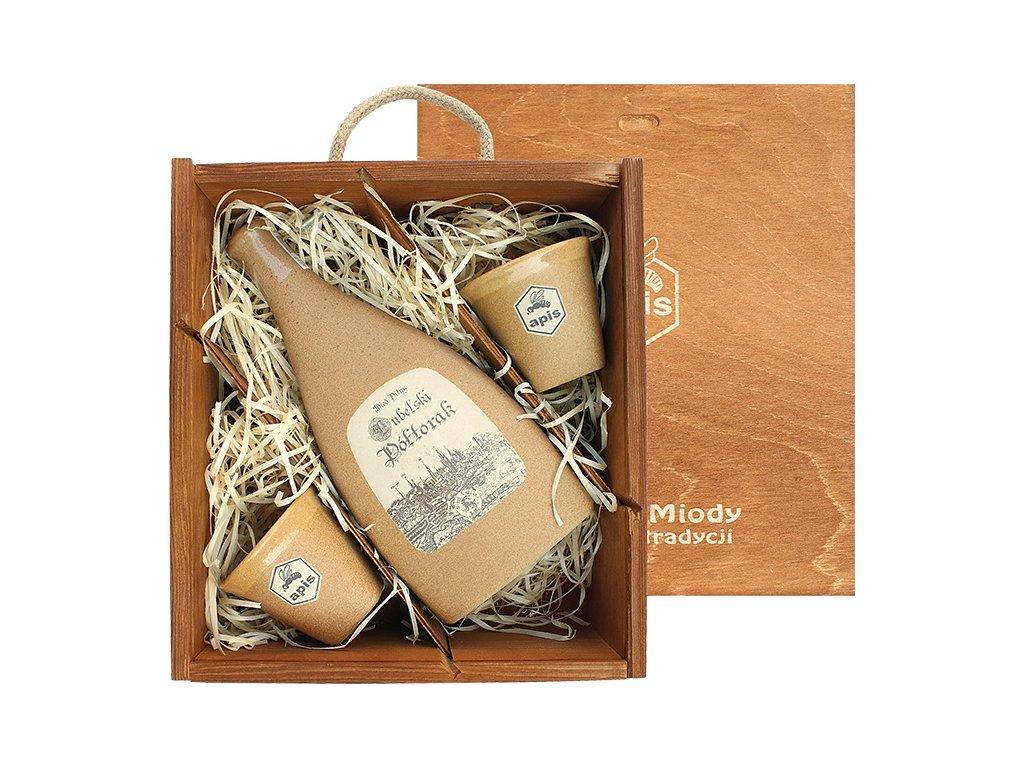 Apis - Lubelski - Miód pitny Półtorak (dárková krabice s 2 kalíšky) - 0,5 l  keramika