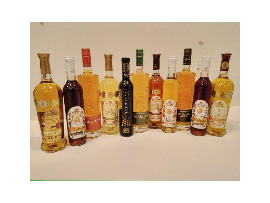 Apimed - Výhodná kompletní kolekce medovin (12 ks)  sklo