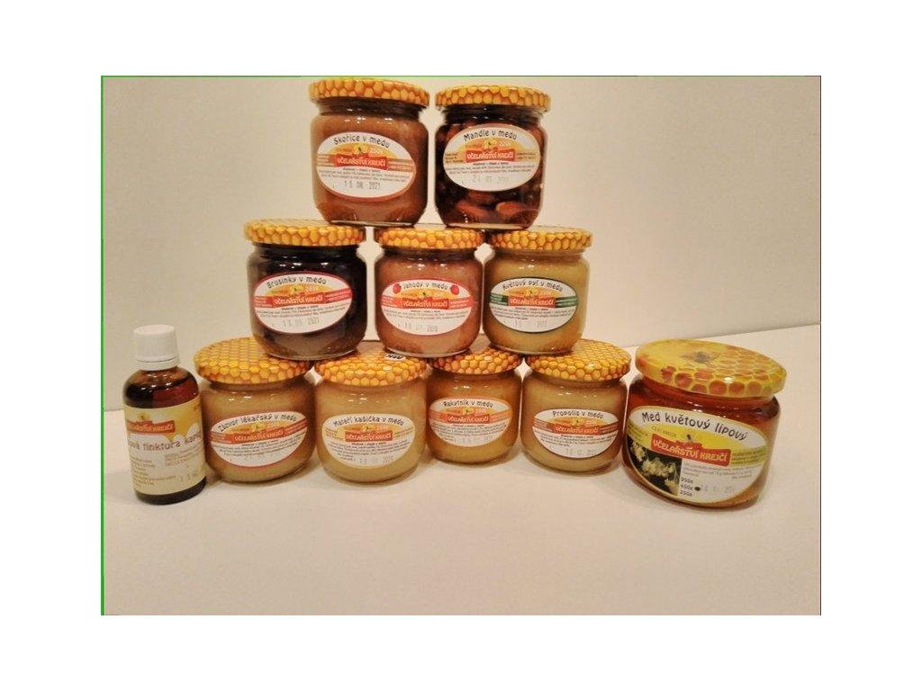 Včelařství Krejčí - Kolekce medových dobrůtek (propolis. tinktura zdarma) (11 ks)
