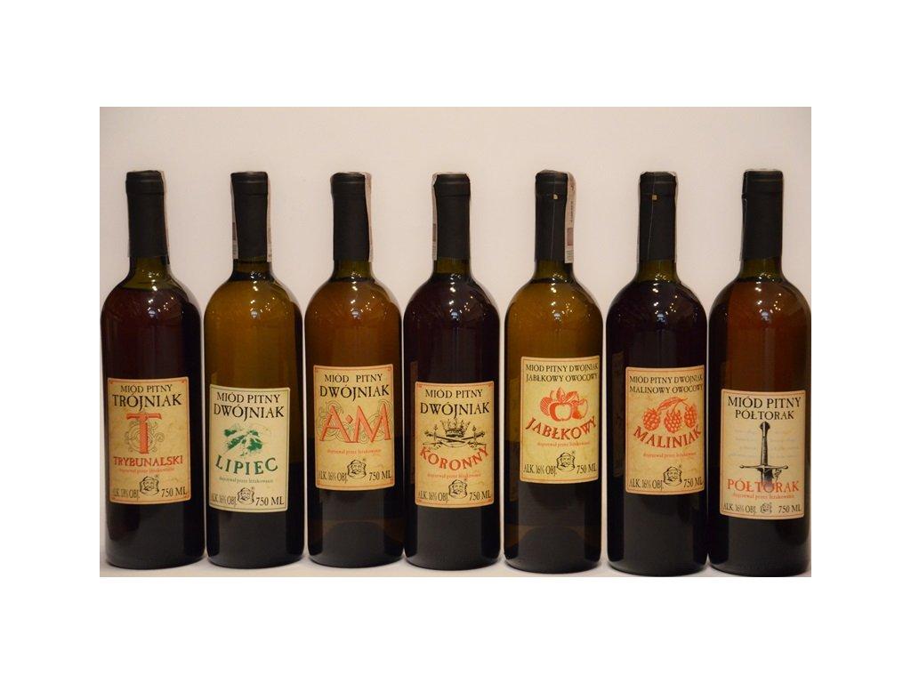 Pasieka Jaros - Zvýhodněná kolekce medovin 3 kategorií (7 ks)  sklo