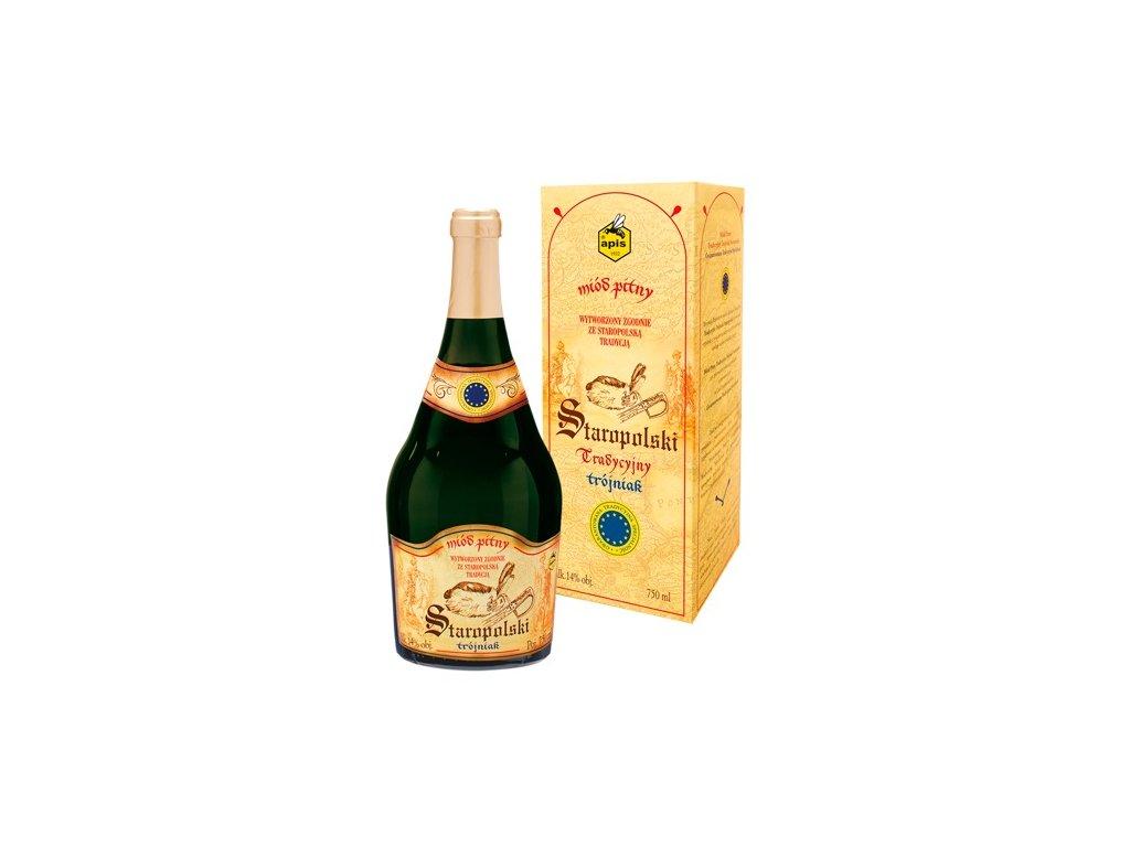 Apis - Staropolski Tradycyjny - Miód pitny trójniak - 0,75 l  sklo