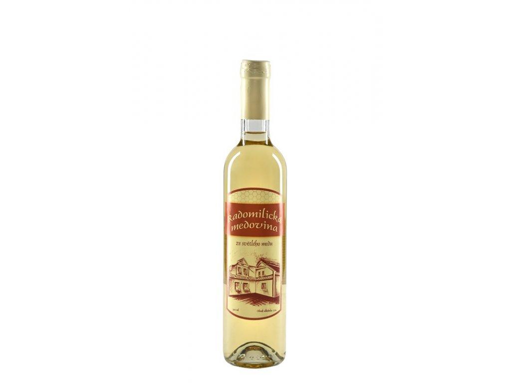 Radomilická medovina - Radomilická medovina z květového medu (karton 6 x 0,5l)  sklo