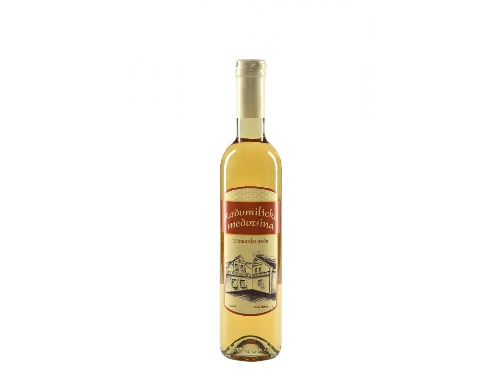 Radomilická medovina - Radomilická medovina z tmavého medu (karton 6x 0,5l)