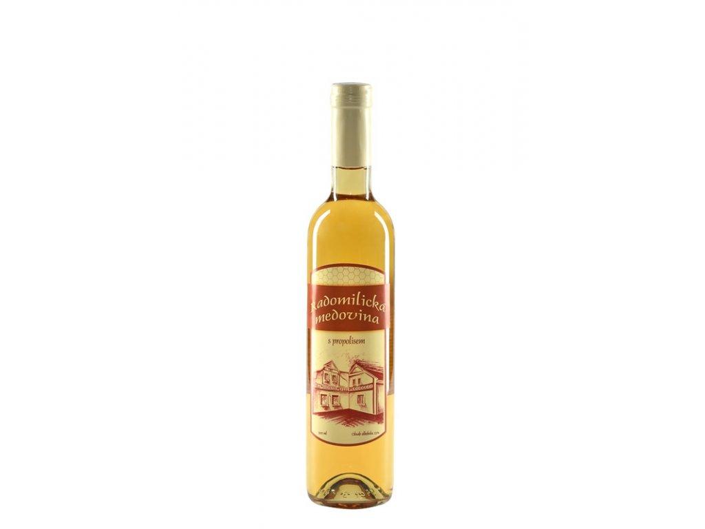 Radomilická medovina - Radomilická medovina s propolisem (karton 6x 0,5l)  sklo