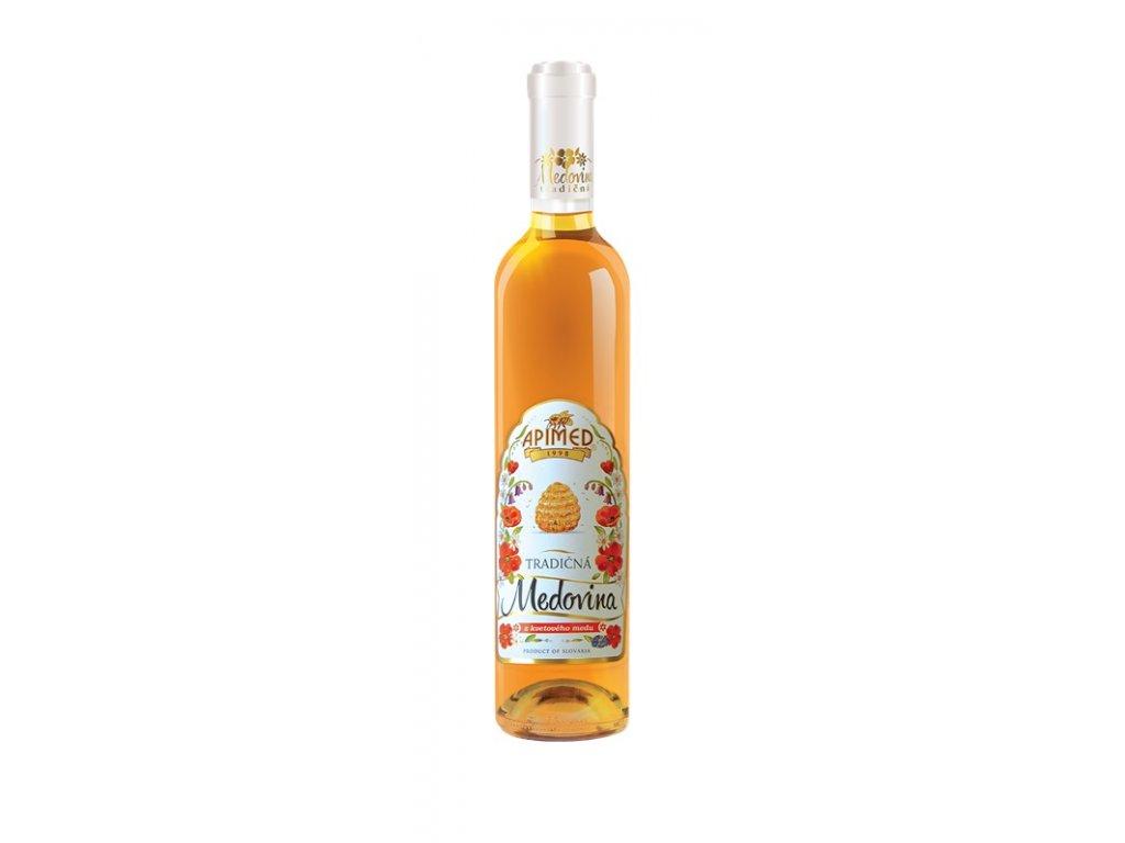 Apimed - Tradiční medovina z květového medu (karton 6x 0,5l)  sklo