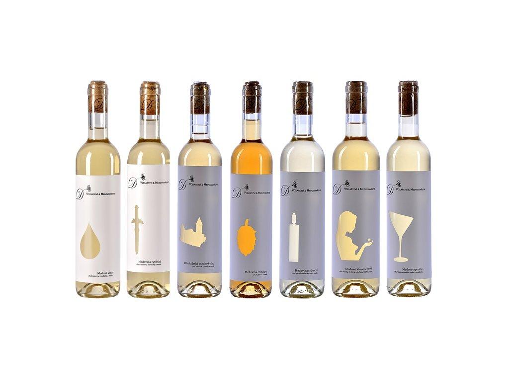 Dvořák - Včelařství a medovinařství - Zvýhodněná kolekce medových vín (7 ks)  sklo