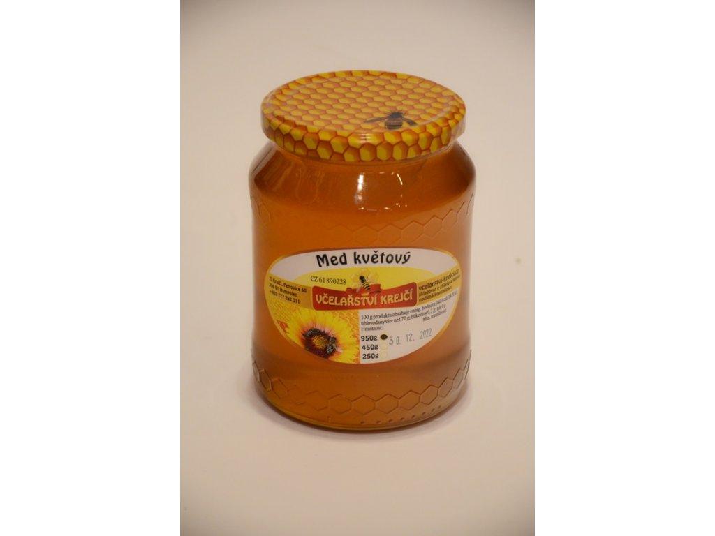 Včelařství Krejčí - Med květový - 0,45 kg  sklo