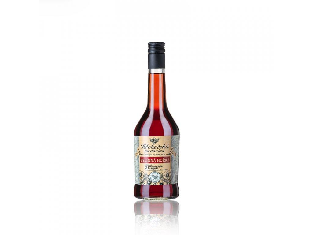 Hřebečská medovina - bylinná hořká - 0,5 l