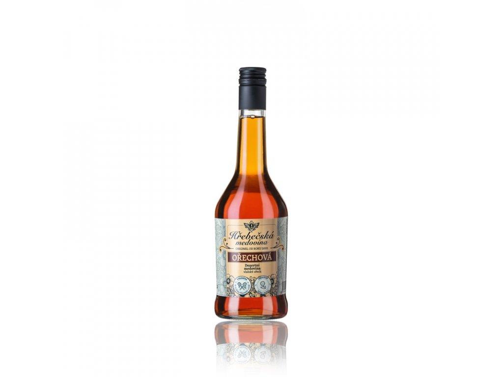 Hřebečská medovina - ořechová (dezertní medovina) - 0,5 l