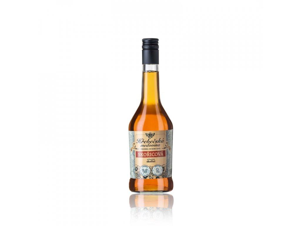 Hřebečská medovina - skořicová - 0,5 l