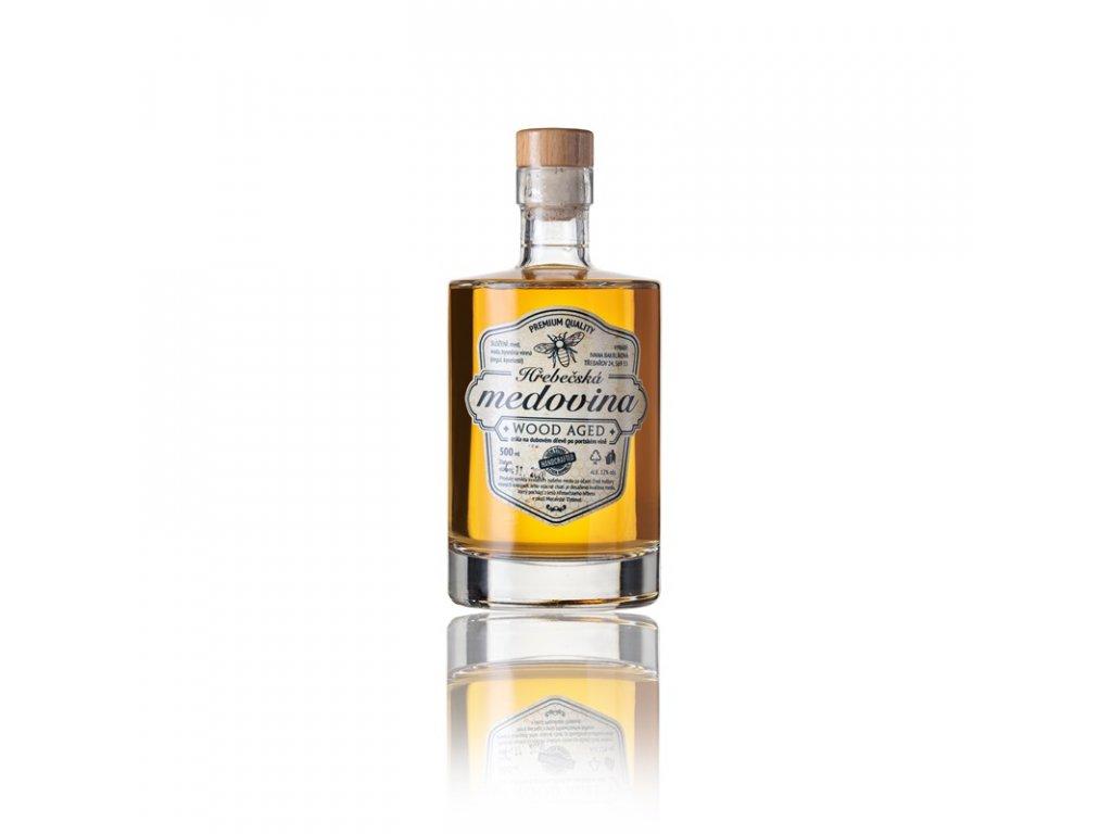 Hřebečská medovina - Wood Aged - 0,5 l  sklo