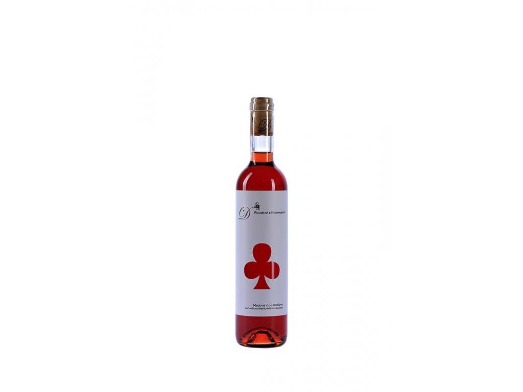 Dvořák - Včelařství a medovinařství - Medové víno aróniové (karton 8x 0,5l)  sklo