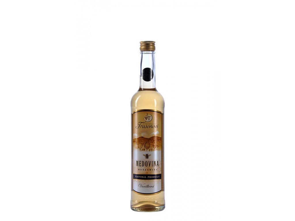 Včelařství Třasoňovi - Medovina vanilková - 0,5 l  sklo