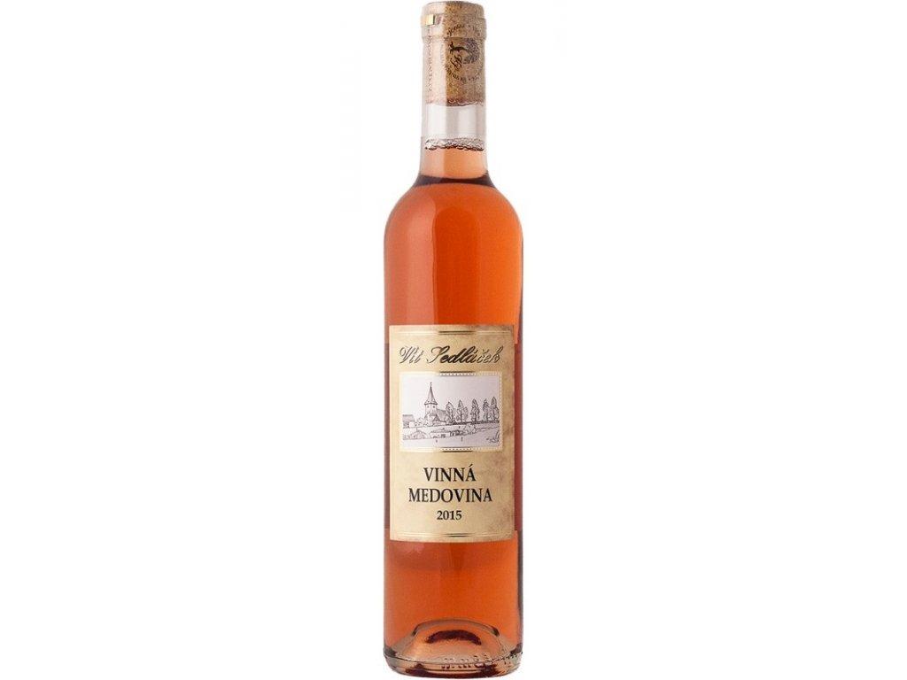 Vinařství Vít Sedláček - Vinná medovina - růžová 2017-18 - 0,5 l  sklo