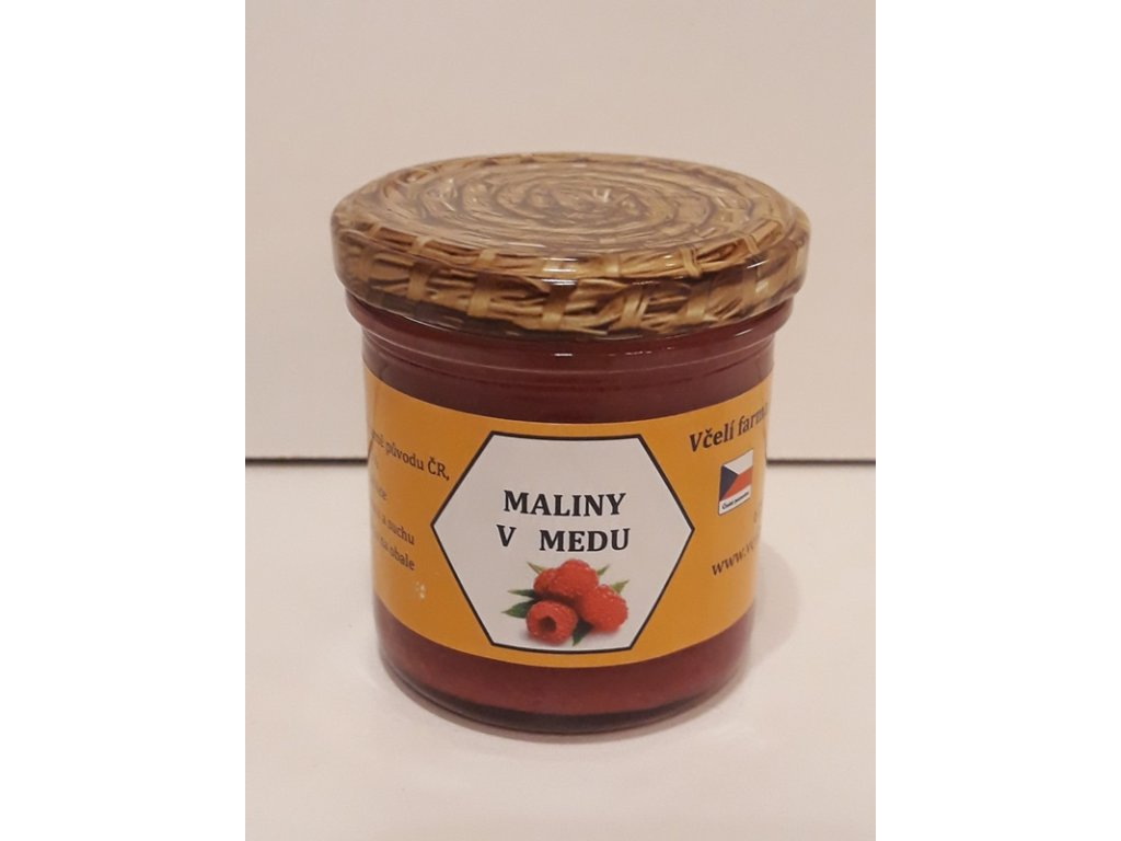 Včelí farma Kurtinovi - Maliny v medu - 0,17 kg  sklo