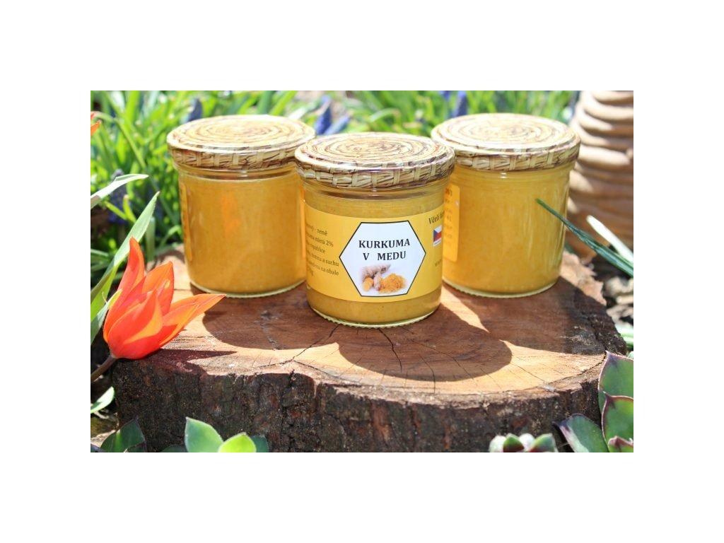 Včelí farma Kurtinovi - Kurkuma v medu - 0,17 kg  sklo