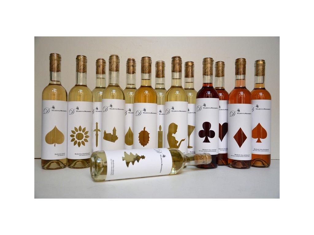 Dvořák - Včelařství a medovinařství - Výhodná kompletní kolekce medovin (vánoční medovina zdarma) (14 ks)