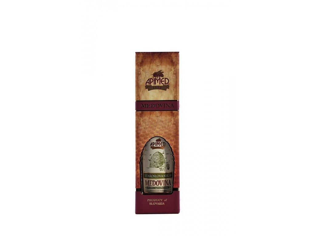 Apimed - Staroslovanská medovina - světlá z akátového medu v DELUX dárkové krabičce