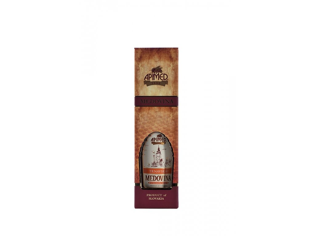Apimed - Trnavská medovina - z květového medu v DELUX dárkové krabičce
