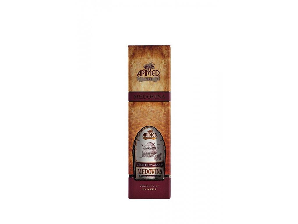 Apimed - Staroslovanská medovina - tmavá z lesního medu v DELUX dárkové krabičce