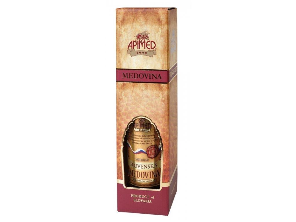 Apimed - Dárková krabička na medovinu 0,75