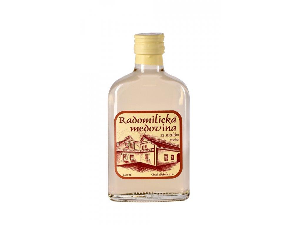 Radomilická medovina ze světlého medu - 0,2 l  sklo