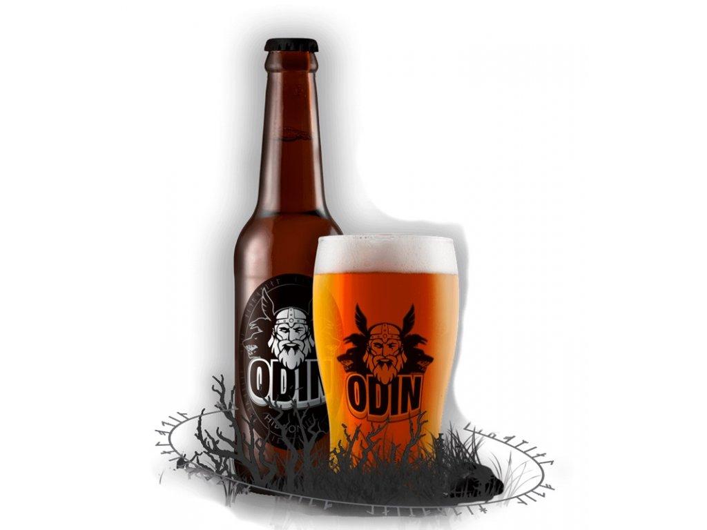 Hidromiel Odin - Medovina Odin (karton 24x 0,33l)  sklo