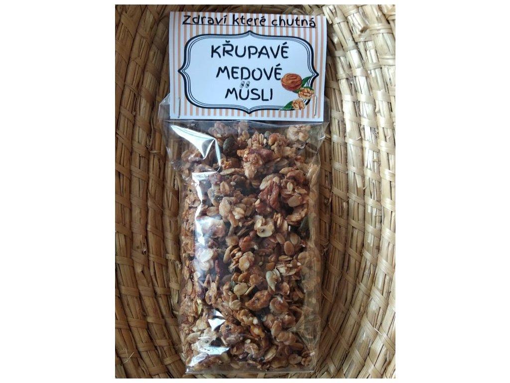 Zahrádka u Tomíků - Křupavé medové müsli - ořechové - 200 g