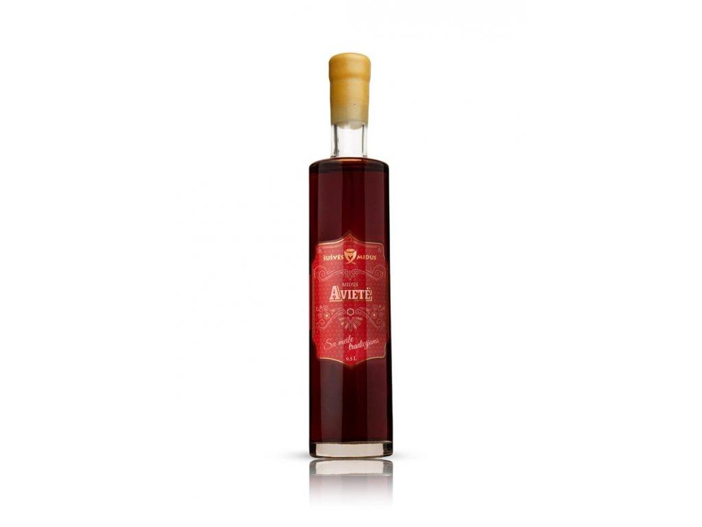 Šušvės midus - Midus Avietė (malinová medovina) - 0,5 l  sklo
