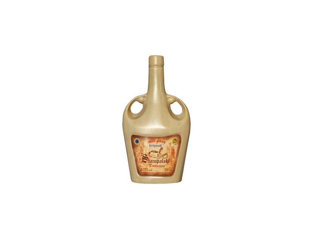 Apis - Staropolski Tradycyjny - Miód pitny trójniak - 0,5 l  keramika