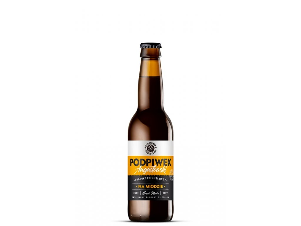 Augustowska Miodosytnia - Podpiwek Augustowski na Miodzie (Nealkoholické medové pivo) - 0,33 l  sklo