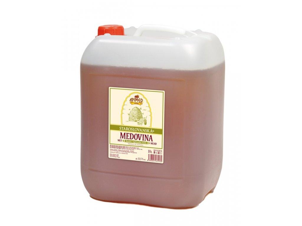 Apimed - Staroslovanská medovina - světlá z akátového medu - 10 l  plast