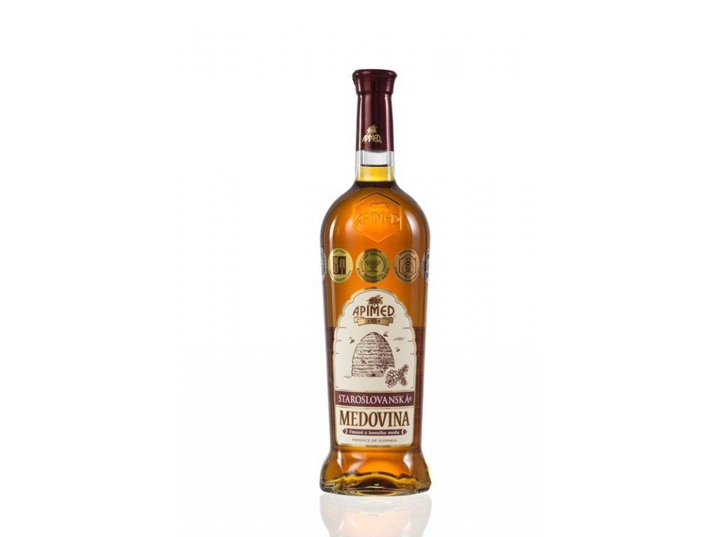 Apimed - Staroslovanská medovina - tmavá z lesního medu - 0,75l