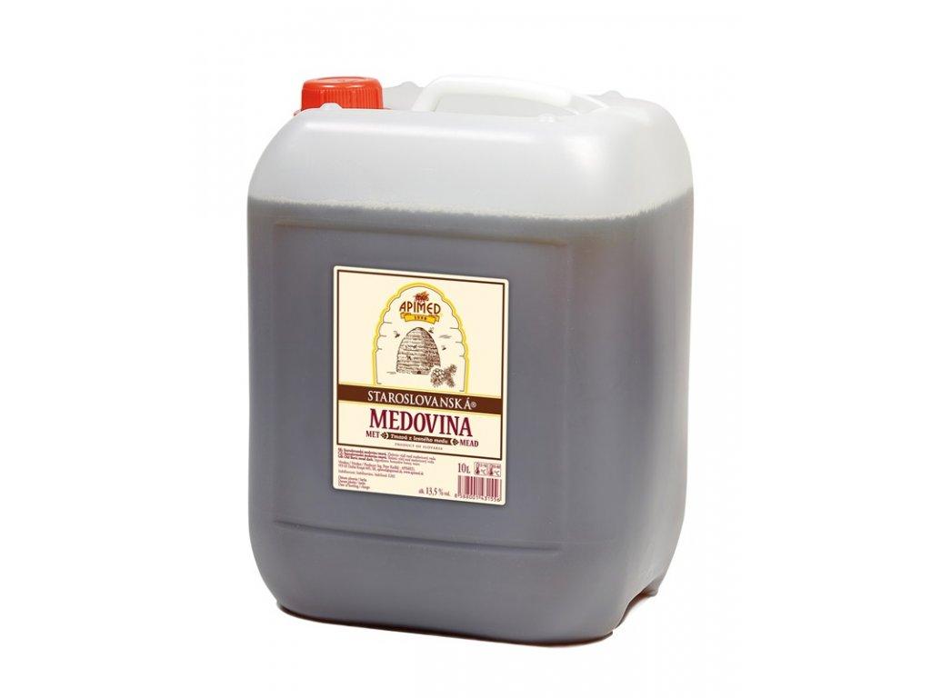 Apimed - Staroslovanská medovina - tmavá z lesního medu - 10,00l  plast