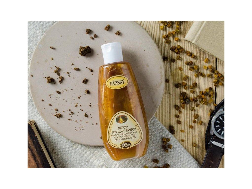 Pleva - Pánský medový sprchový šampon - 0,2 kg