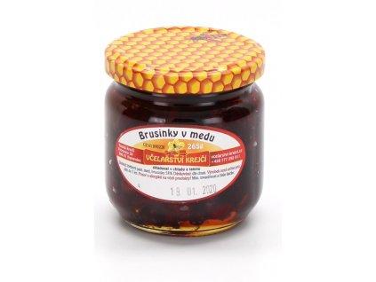 Včelařství Krejčí - Brusinky v medu - 0,265 kg