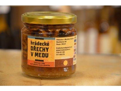Hrádecký med - Hrádecké ořechy v medu - 0,22l