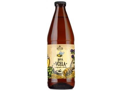 Včelco - Divá včela - medový cider s chmelem - 0,5 l  sklo