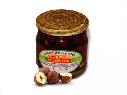 Včelařství Krejčí - Lískové oříšky v medu - 0,25kg