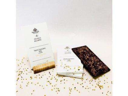 Včelařství Balaštík - Čokoláda 70% s květovým pylem - 55 g