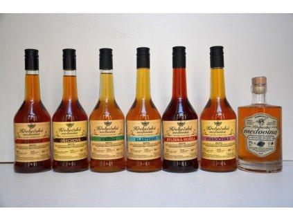 Hřebečská medovina - Výhodná kompletní kolekce nových edic medovin (7 ks)