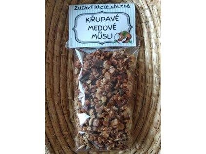 Zahrádka u Tomíků - Křupavé medové müsli - kokosové - 200 g  sklo