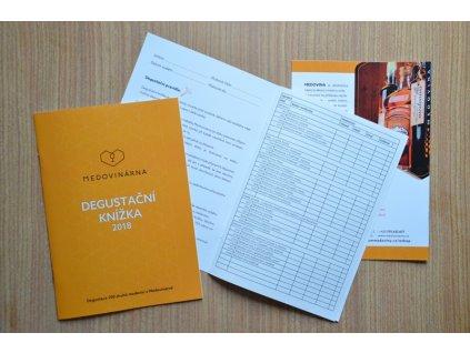 Degustační knížka - samostatný výtisk