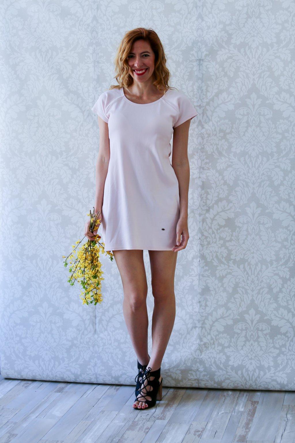 Ženské šaty Magdaléna / Lososová
