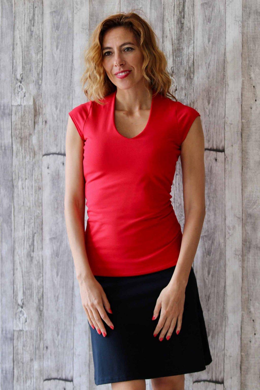 Pohodlné tričko Yamanaya / Červená