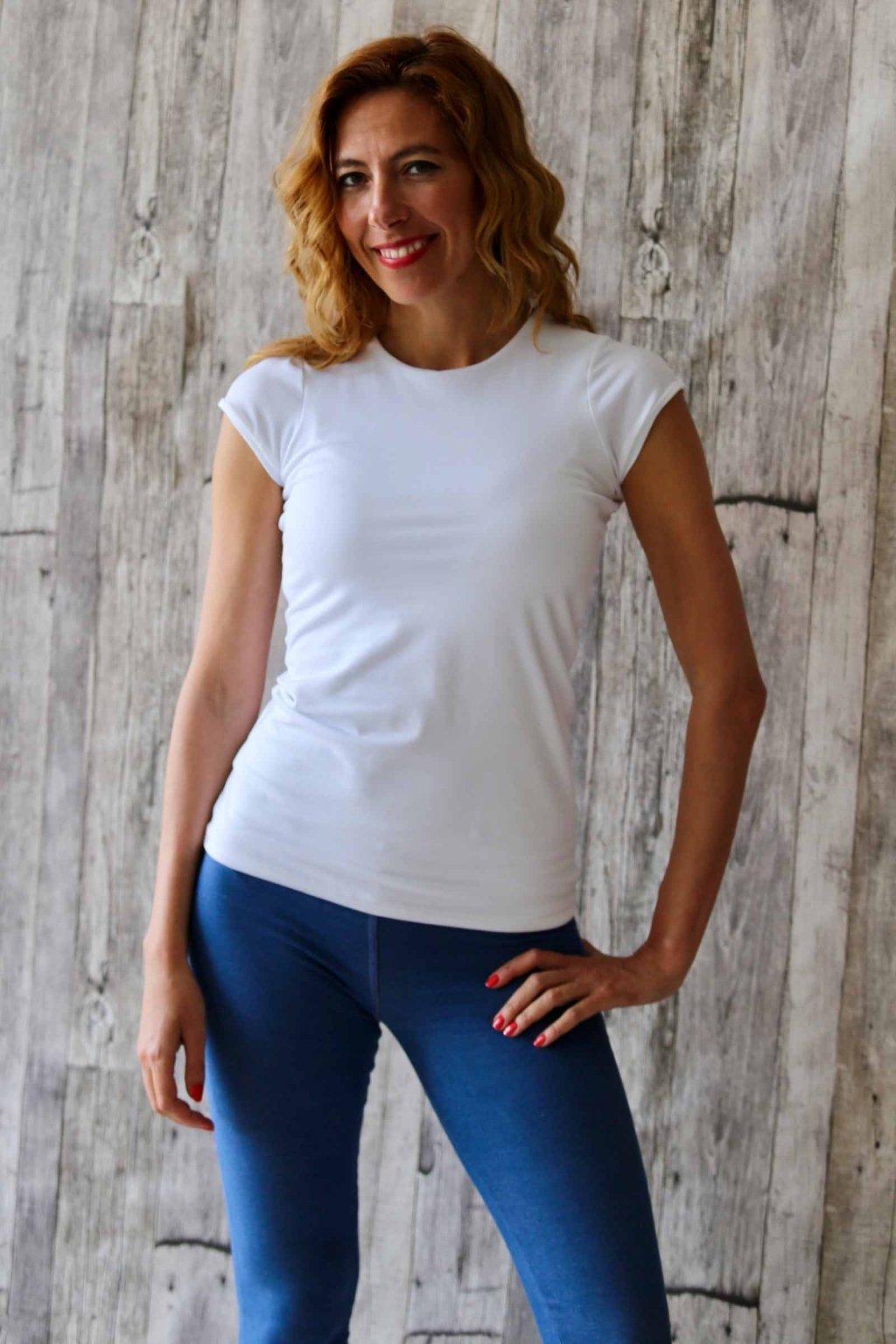 Tričko s kulatým výstřihem Donn / Bílá