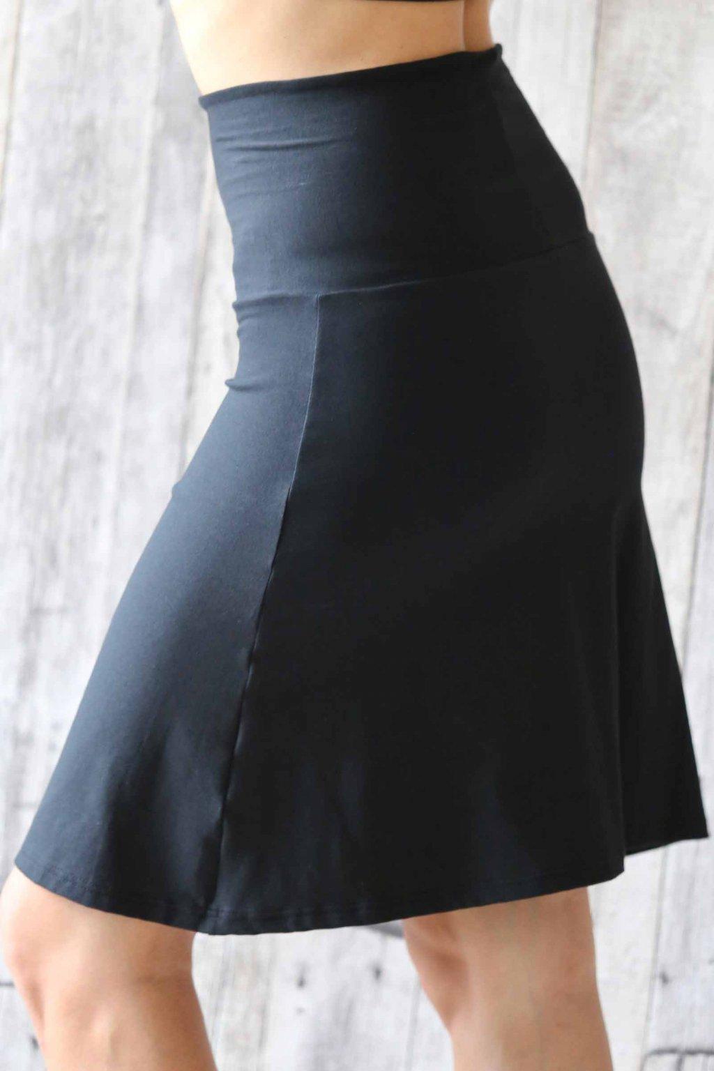 Lehká sukně Aine / Černá