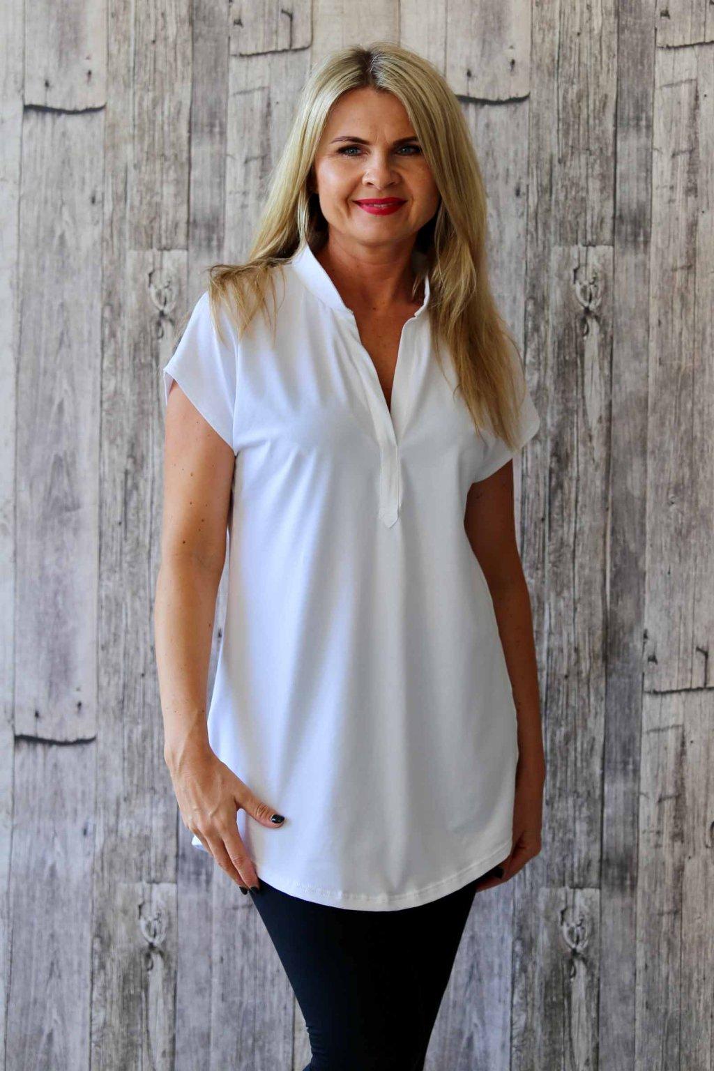 Oblíbená košilová tunika / Bílá