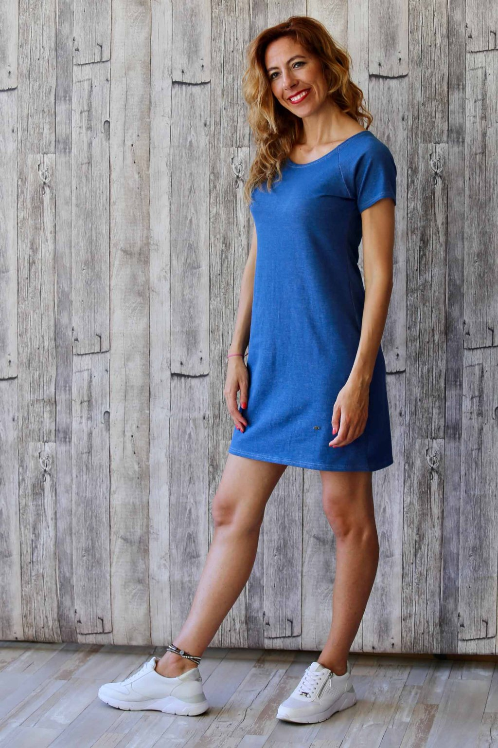 Ženské džínové šaty Magdaléna / Modrý denim