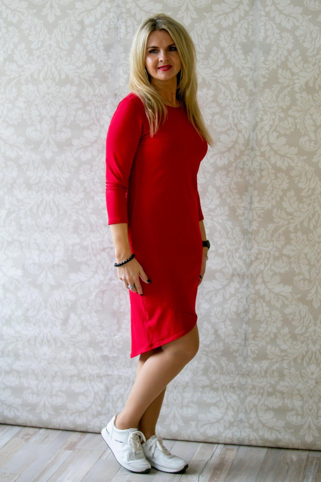 Elegantní lodičkové šaty Vanessa / Červená